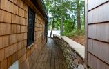 Back Deck With Stone Wall